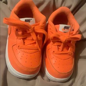 Nike Shoes - Bright orange Air Force 1's